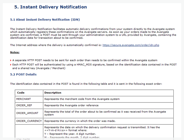 Instant Delivery Notification