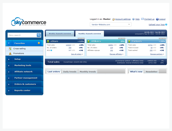 Sell software through any channel and model with the Sky Commerce Suite