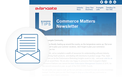 Sign-up for the Avangate Commerce Matters Newsletter